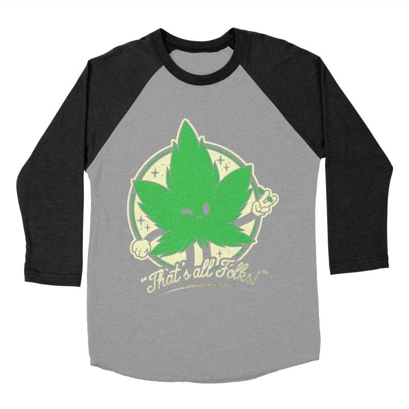 That's all Folks! Men's Baseball Triblend Longsleeve T-Shirt by ilustrata