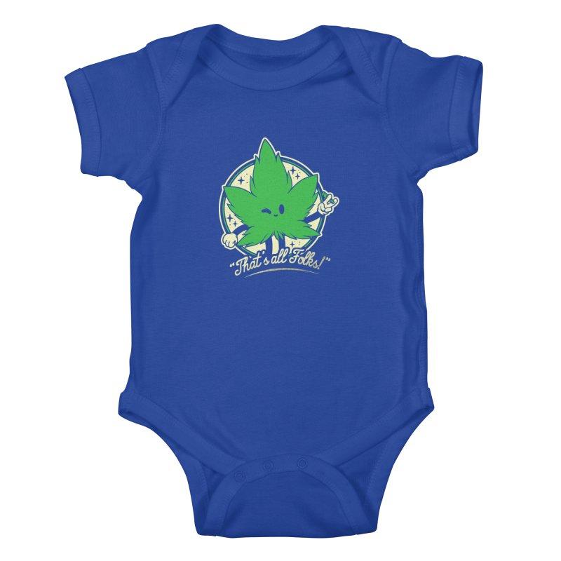 That's all Folks! Kids Baby Bodysuit by ilustrata