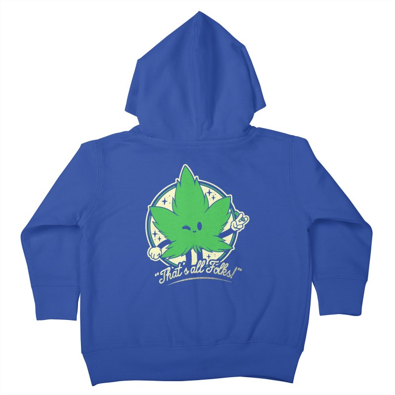 That's all Folks! Kids Toddler Zip-Up Hoody by ilustrata