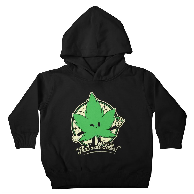 That's all Folks! Kids Toddler Pullover Hoody by ilustrata