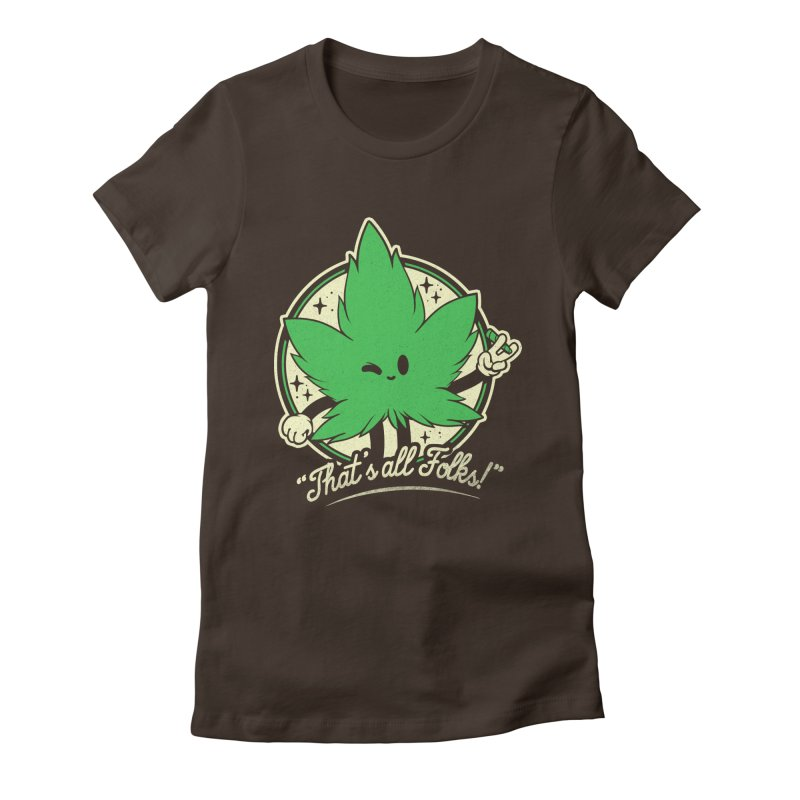 That's all Folks! Women's Fitted T-Shirt by ilustrata