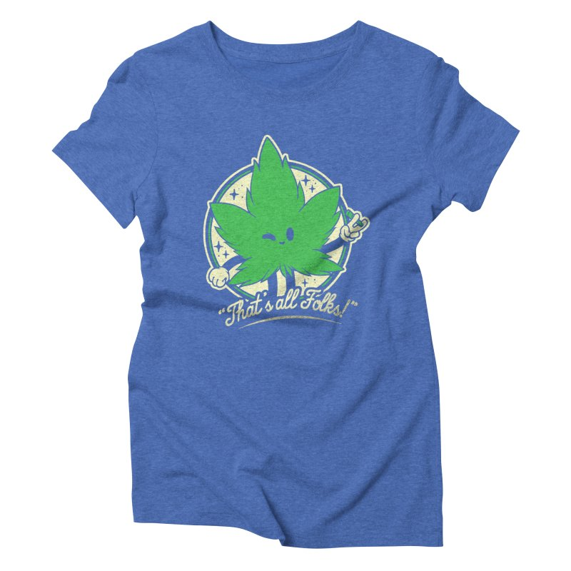 That's all Folks! Women's Triblend T-Shirt by ilustrata