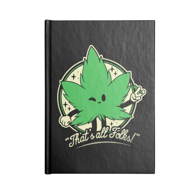 That's all Folks! Accessories Blank Journal Notebook by ilustrata