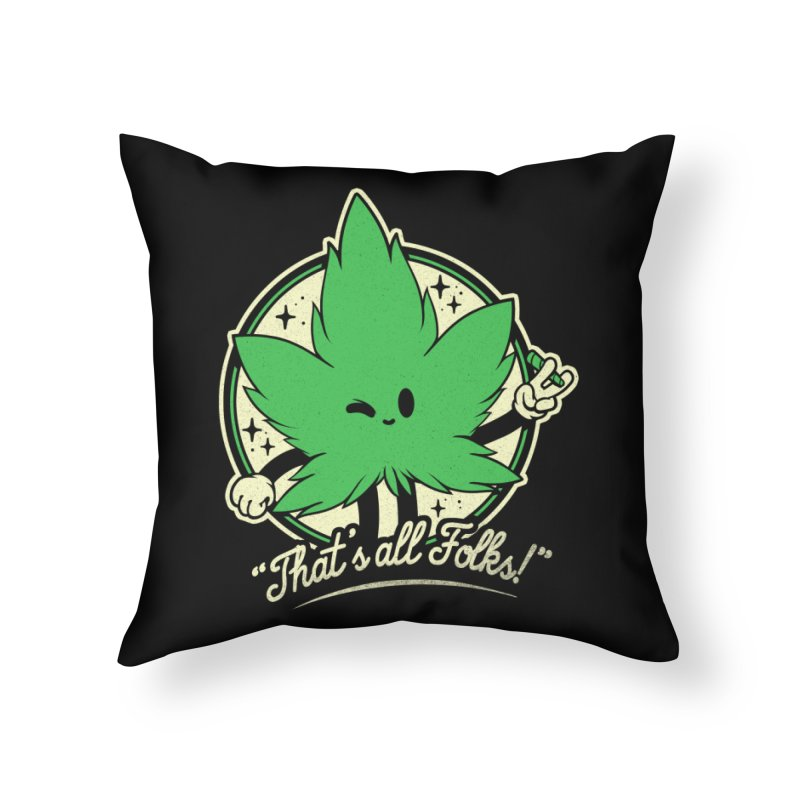 That's all Folks! Home Throw Pillow by ilustrata
