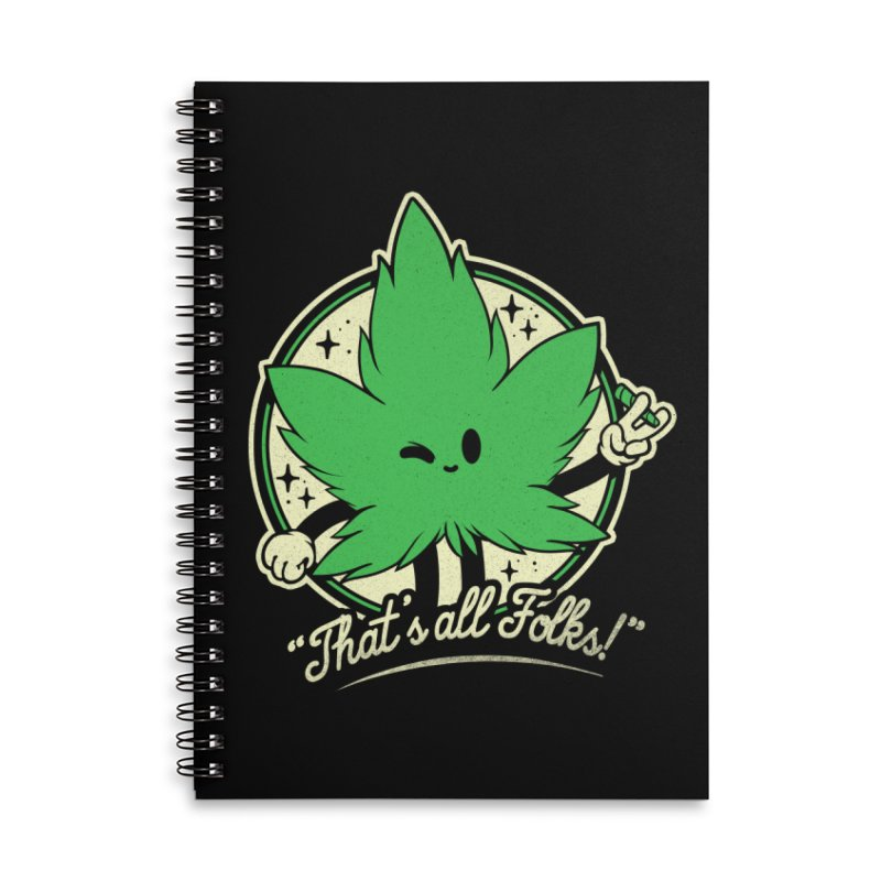 That's all Folks! Accessories Lined Spiral Notebook by ilustrata