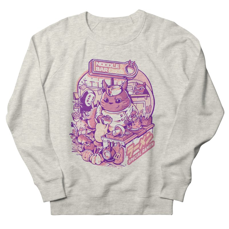 My neighbor noodle bar Men's French Terry Sweatshirt by ilustrata