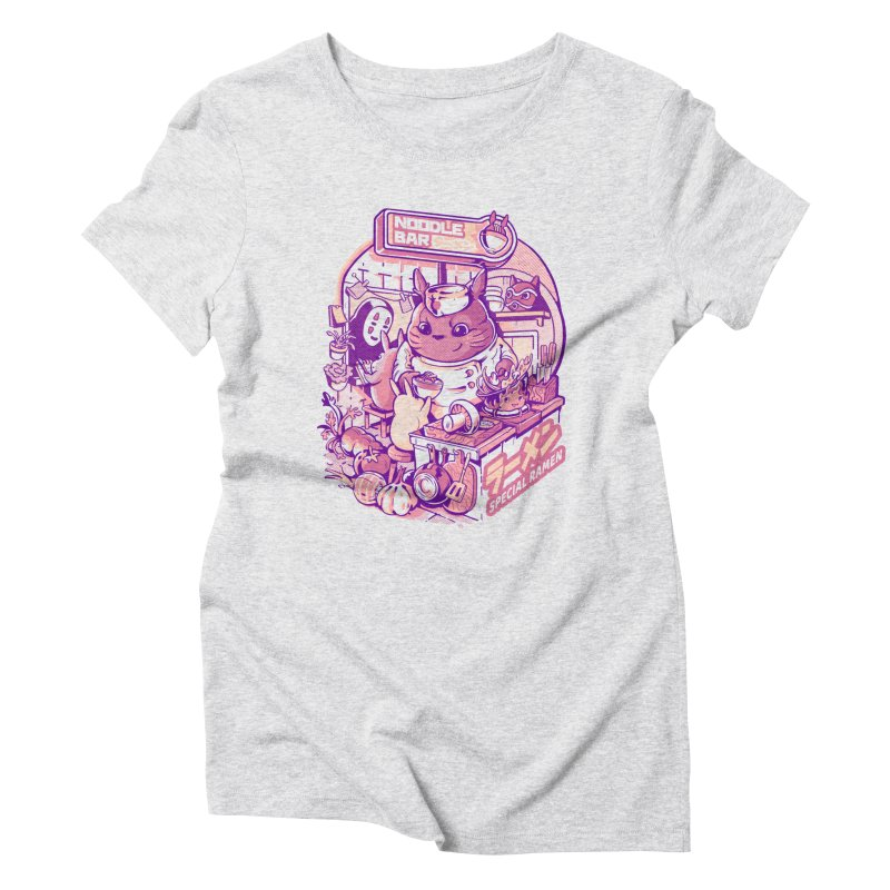 My neighbor noodle bar Women's Triblend T-Shirt by ilustrata