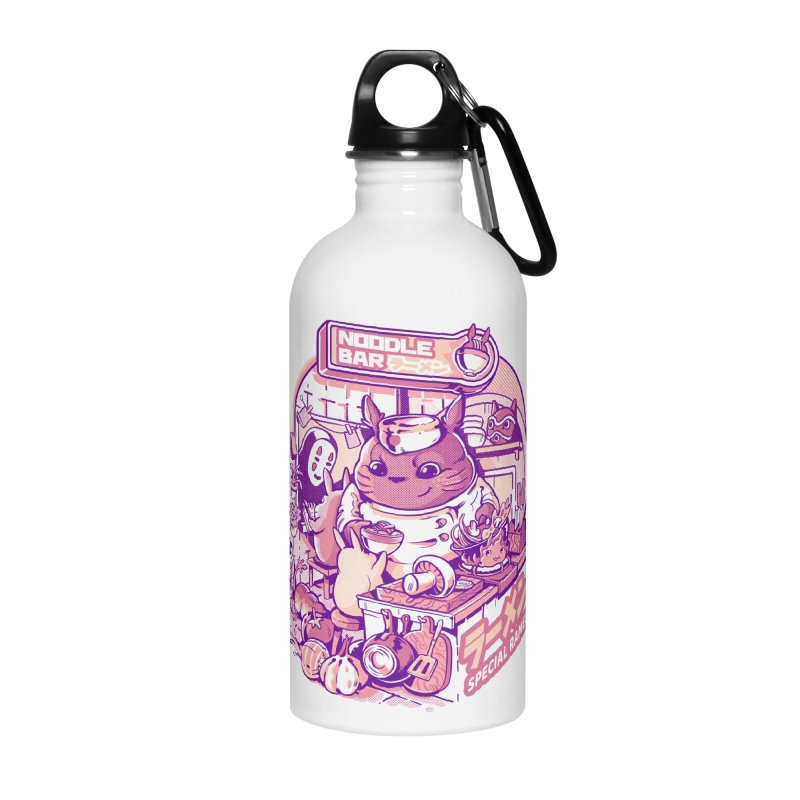 My neighbor noodle bar Accessories Water Bottle by ilustrata