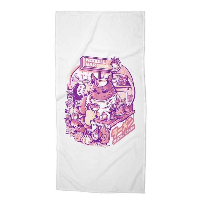 My neighbor noodle bar Accessories Beach Towel by ilustrata