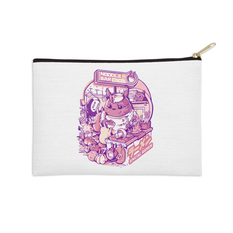 My neighbor noodle bar Accessories Zip Pouch by ilustrata