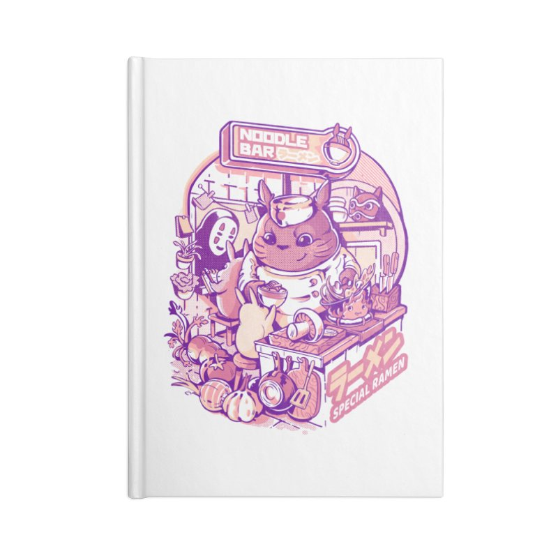 My neighbor noodle bar Accessories Blank Journal Notebook by ilustrata