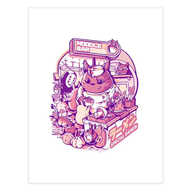 My neighbor noodle bar Home Fine Art Print by ilustrata
