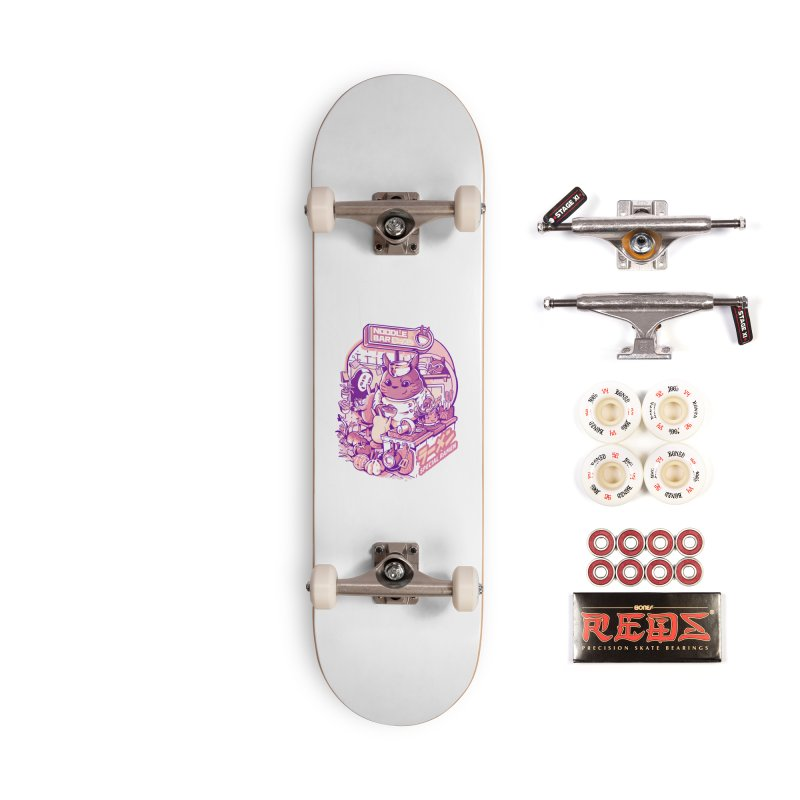 My neighbor noodle bar Accessories Complete - Pro Skateboard by ilustrata