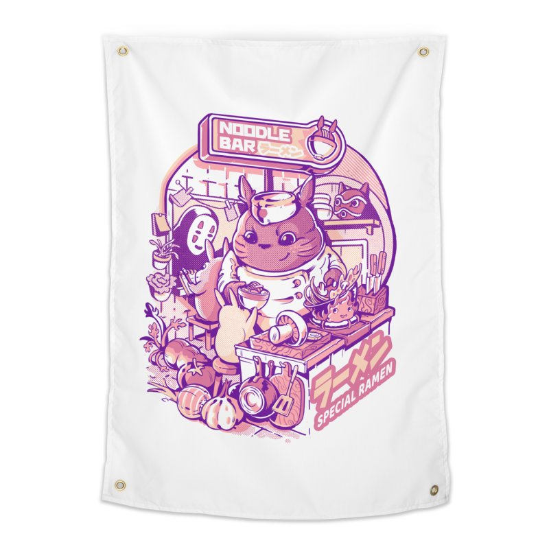My neighbor noodle bar Home Tapestry by ilustrata