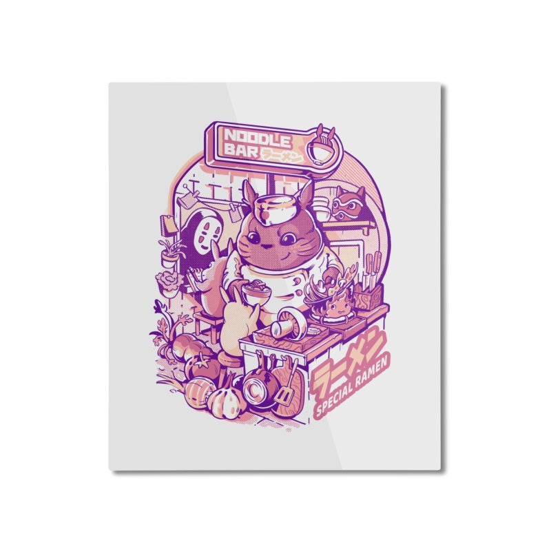 My neighbor noodle bar Home Mounted Aluminum Print by ilustrata