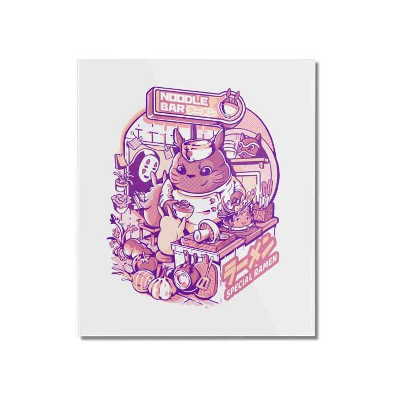 My neighbor noodle bar Home Mounted Acrylic Print by ilustrata
