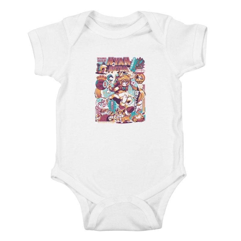 NYANderthal Kids Baby Bodysuit by ilustrata
