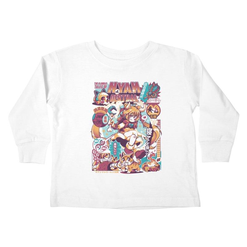 NYANderthal Kids Toddler Longsleeve T-Shirt by ilustrata