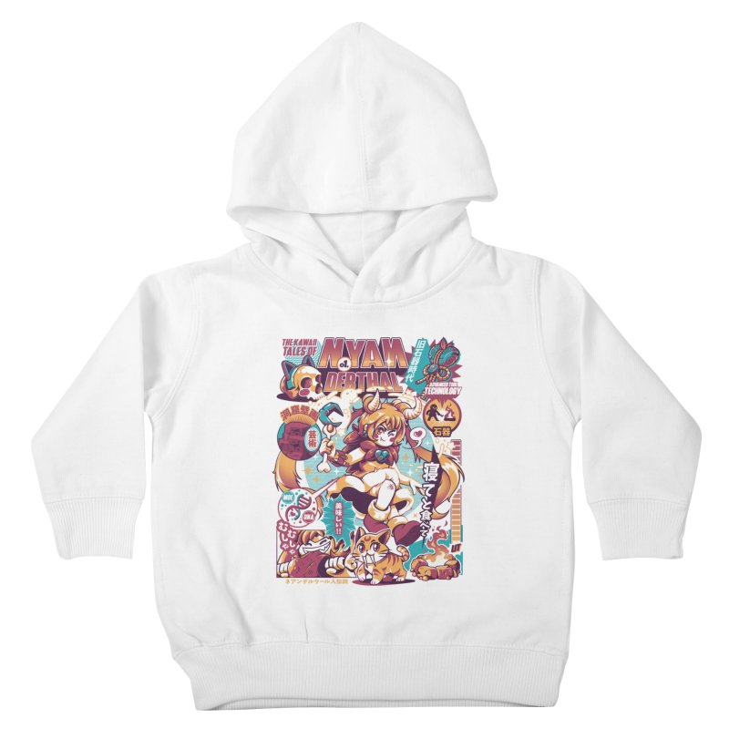 NYANderthal Kids Toddler Pullover Hoody by ilustrata