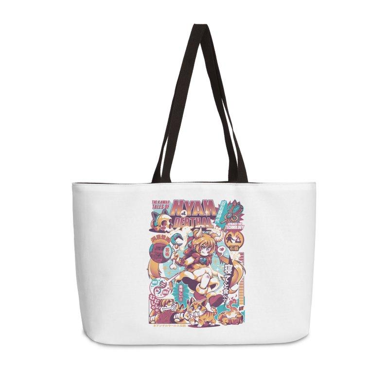 NYANderthal Accessories Weekender Bag Bag by ilustrata