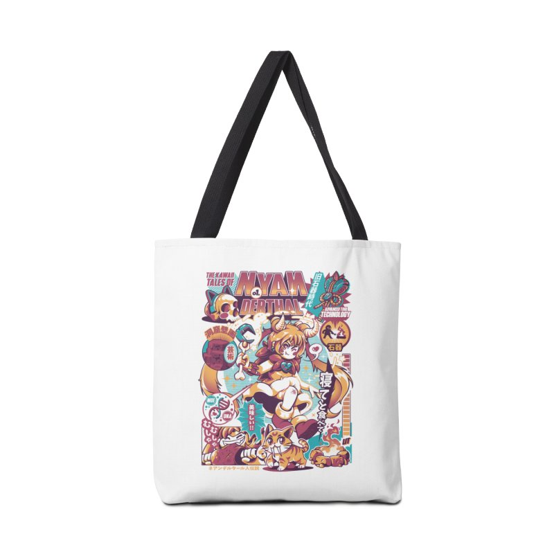 NYANderthal Accessories Tote Bag Bag by ilustrata