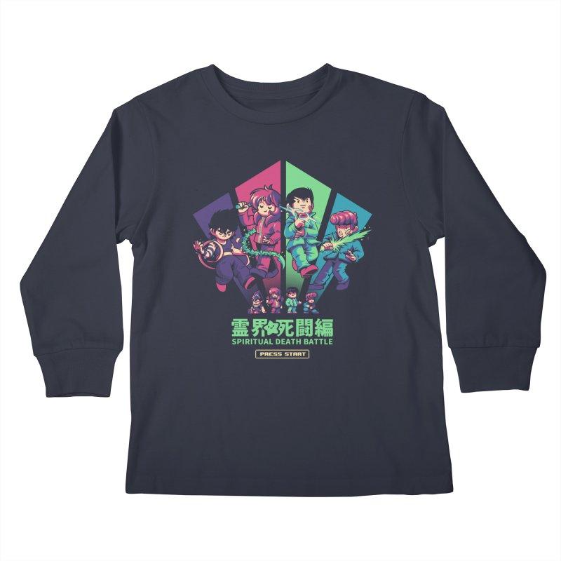 Spiritual Battle Kids Longsleeve T-Shirt by ilustrata