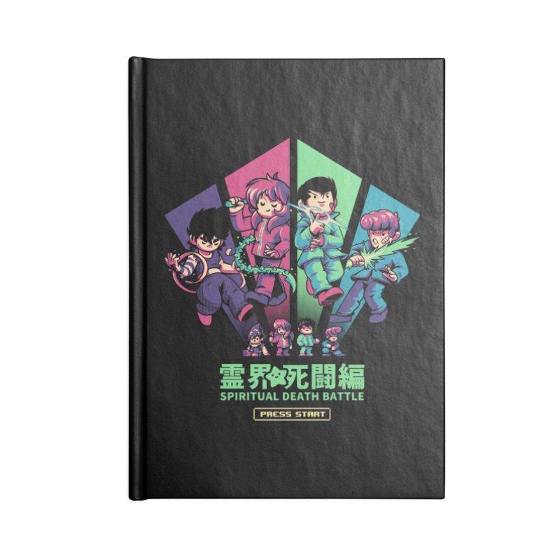 Spiritual Battle Accessories Blank Journal Notebook by ilustrata