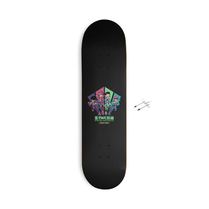 Spiritual Battle Accessories With Hanging Hardware Skateboard by ilustrata