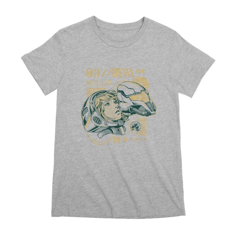 S-head v2 Women's Premium T-Shirt by ilustrata