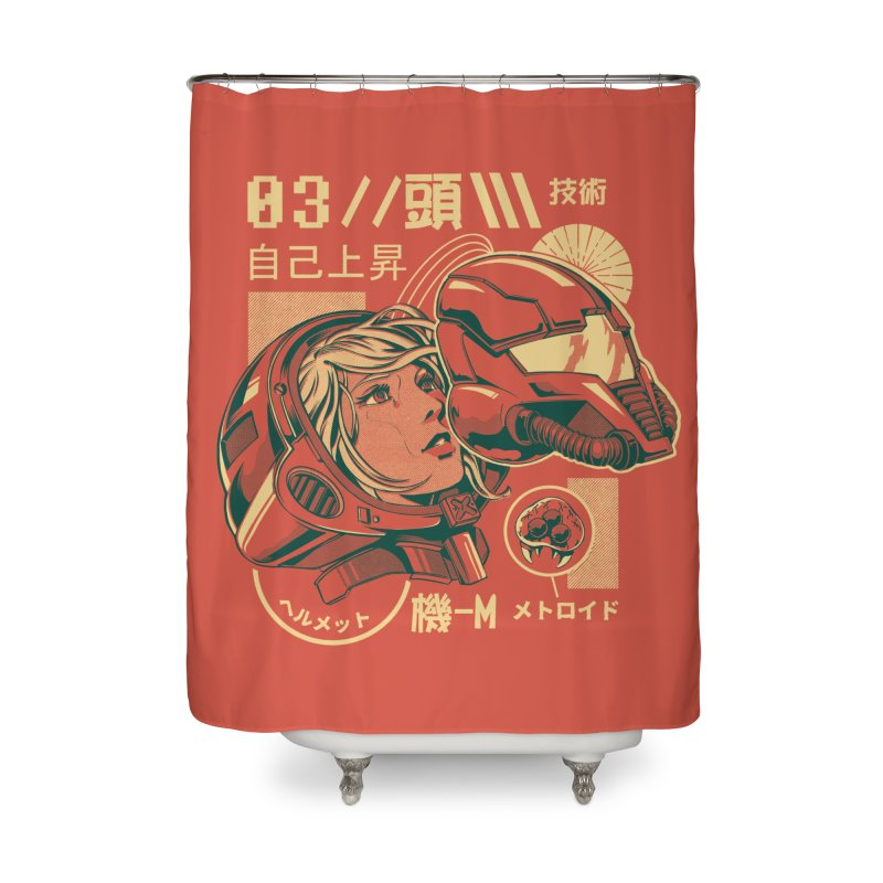 S-head v2 Home Shower Curtain by ilustrata