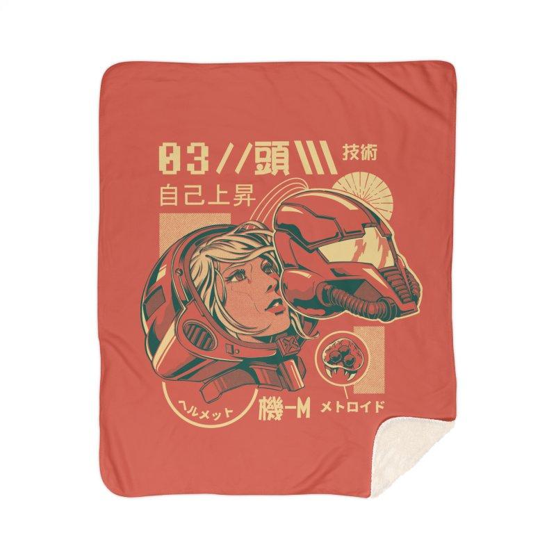 S-head v2 Home Sherpa Blanket Blanket by ilustrata