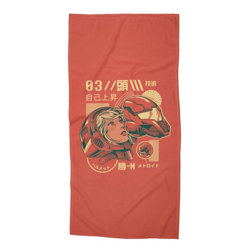 S-head v2 Accessories Beach Towel by ilustrata