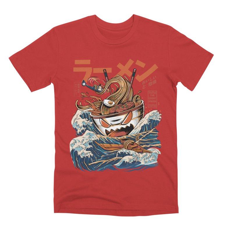 The black Great Ramen Men's Premium T-Shirt by ilustrata