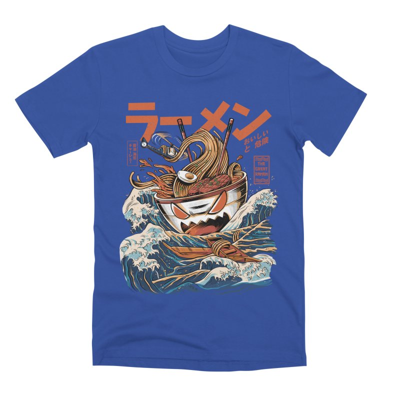 The black Great Ramen Men's T-Shirt by ilustrata