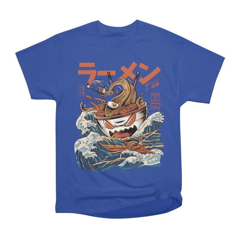 The black Great Ramen Men's Heavyweight T-Shirt by ilustrata