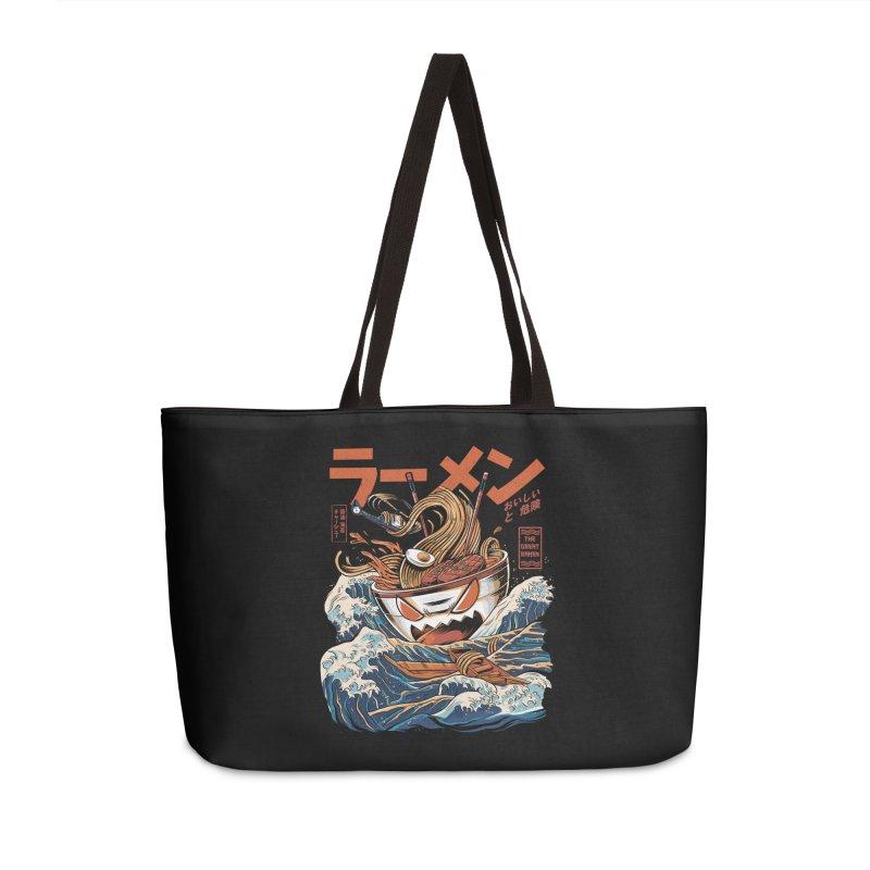 The black Great Ramen Accessories Weekender Bag Bag by ilustrata