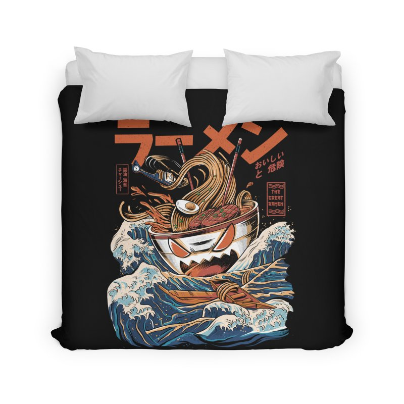 The black Great Ramen Home Duvet by ilustrata