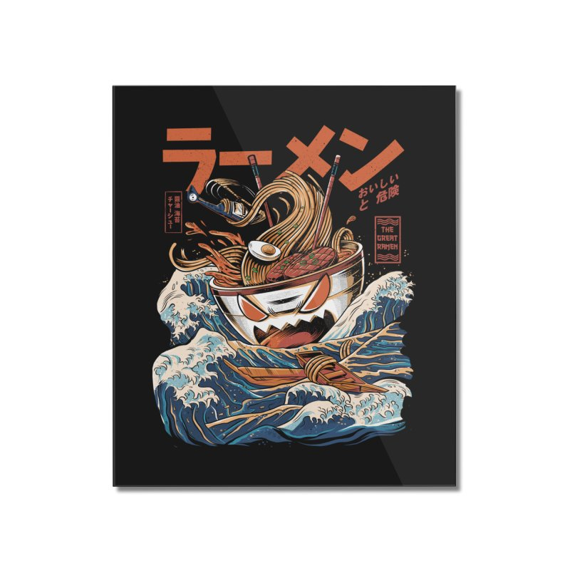 The black Great Ramen Home Mounted Acrylic Print by ilustrata
