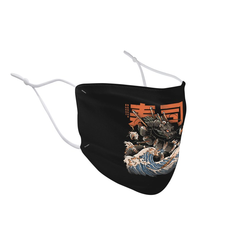 The Black Sushi Dragon Accessories Face Mask by ilustrata