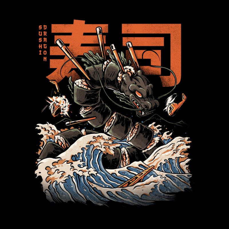 The Black Sushi Dragon Home Tapestry by ilustrata