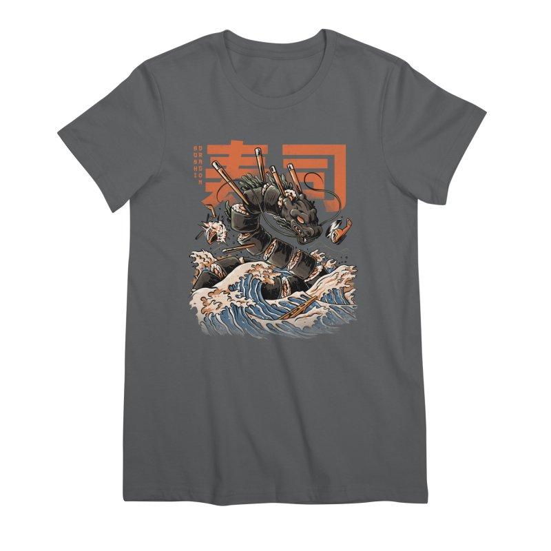 The Black Sushi Dragon Women's Premium T-Shirt by ilustrata