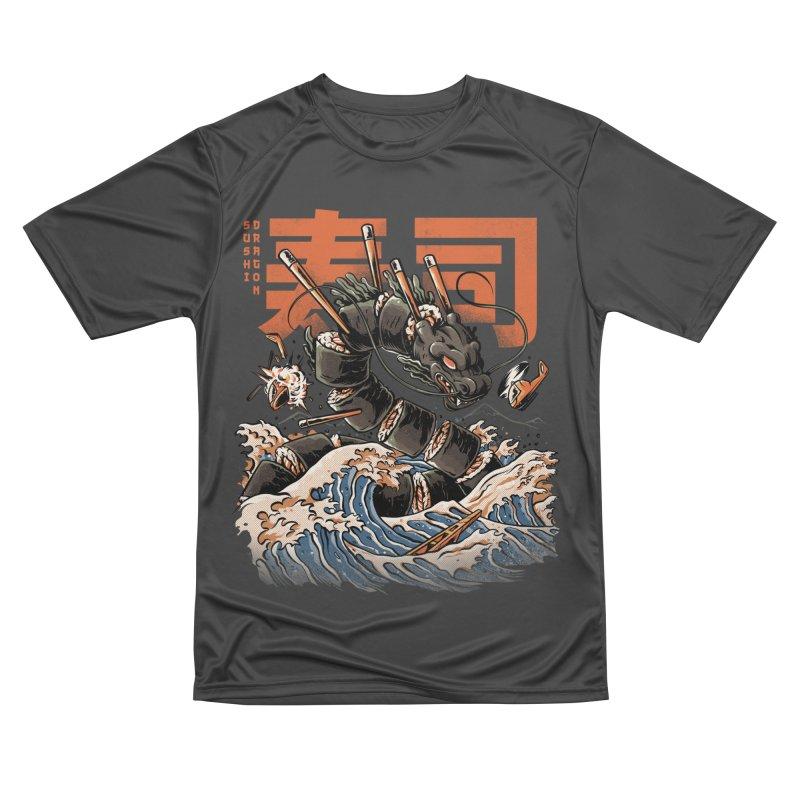 The Black Sushi Dragon Women's Performance Unisex T-Shirt by ilustrata
