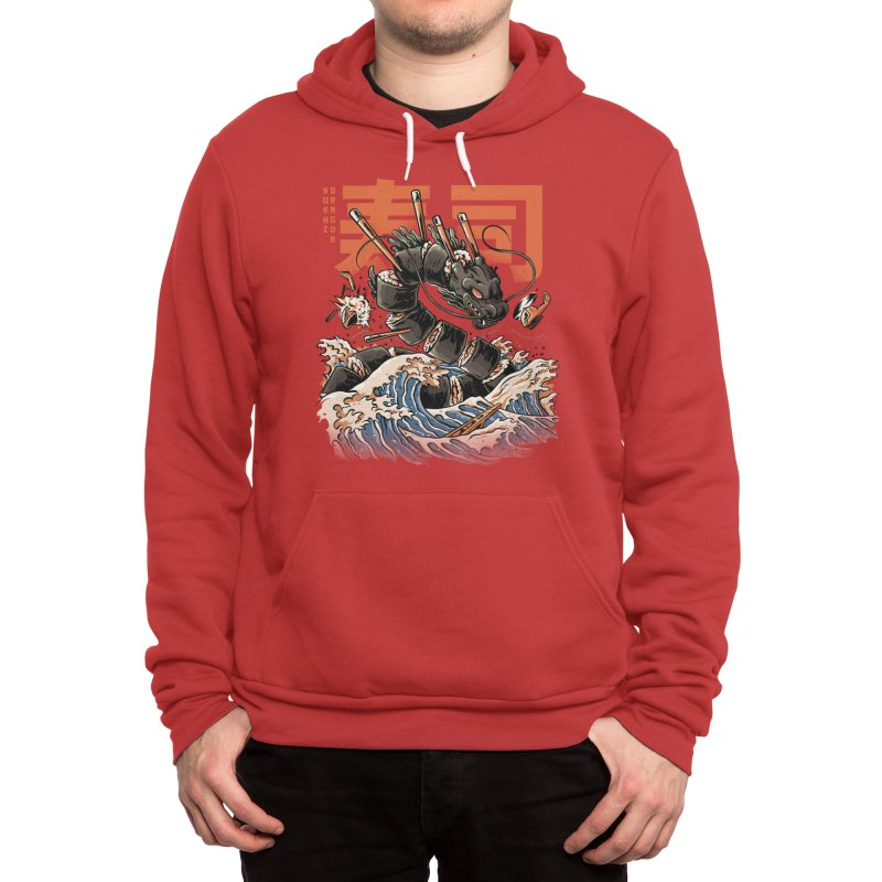 The Black Sushi Dragon Men's Pullover Hoody by ilustrata