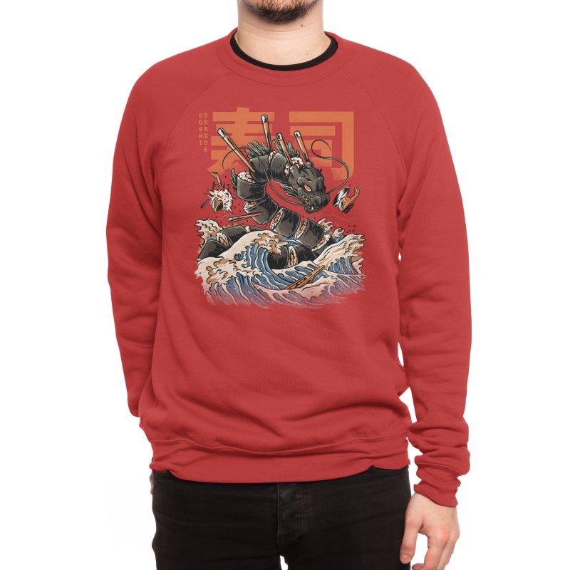 The Black Sushi Dragon Men's Sweatshirt by ilustrata