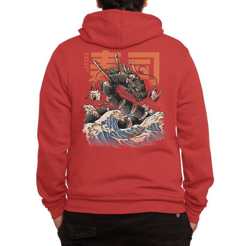 The Black Sushi Dragon Men's Zip-Up Hoody by ilustrata