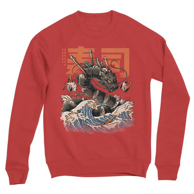 The Black Sushi Dragon Women's Sponge Fleece Sweatshirt by ilustrata