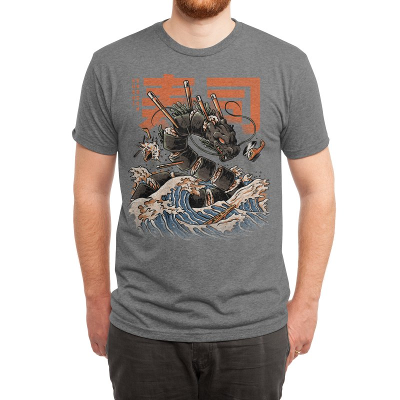 The Black Sushi Dragon Men's T-Shirt by ilustrata