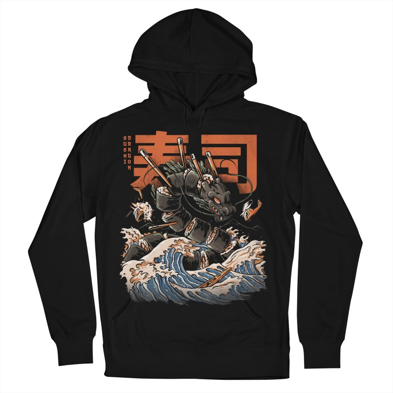 The Black Sushi Dragon Men's French Terry Pullover Hoody by ilustrata