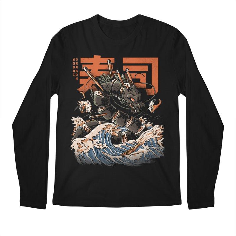 The Black Sushi Dragon Men's Regular Longsleeve T-Shirt by ilustrata