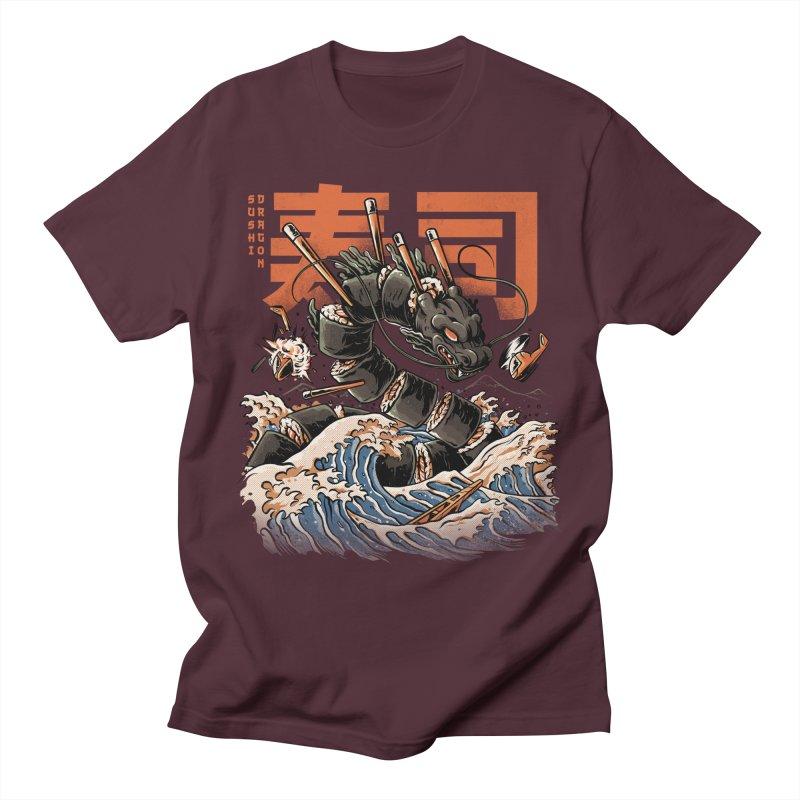 The Black Sushi Dragon Women's Regular Unisex T-Shirt by ilustrata